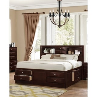 Ankara Espresso Finish Wood Storage Bed