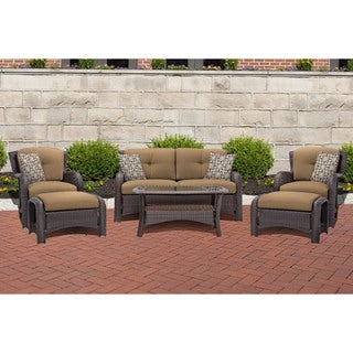 Cambridge Corolla Tan 6-piece Lounge Set