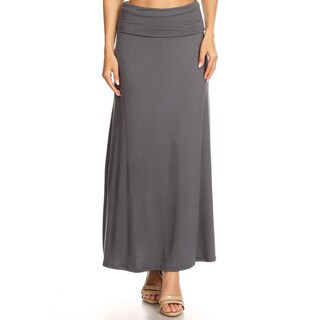 Women's Solid Charcoal Maxi Skirt (3 options available)