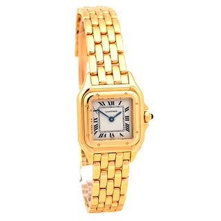 Pre-owned Small Cartier 18k Yellow Gold Panthere Watch