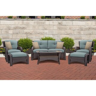 Cambridge Corolla Blue Metal 6-piece Lounge Set