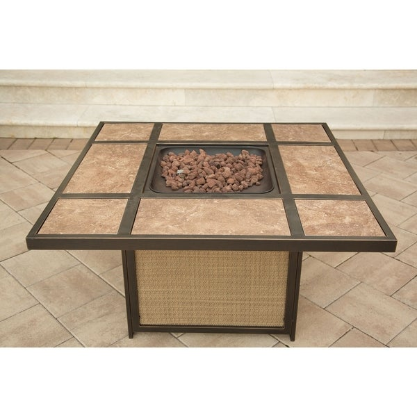 Hanover Traditions Aluminum Tile-top Fire Pit
