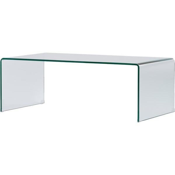 Creative Images International Occasion Collection Clear Bent Glass Coffee  Table