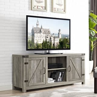 living room furniture. 58 inch Barn Door TV Stand with Side Doors Living Room Furniture For Less  Overstock com