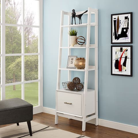 Landon White Wood Small Etagere