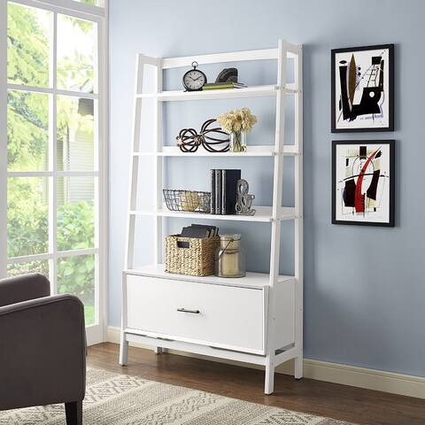 Landon Large Etagere in White - N/A