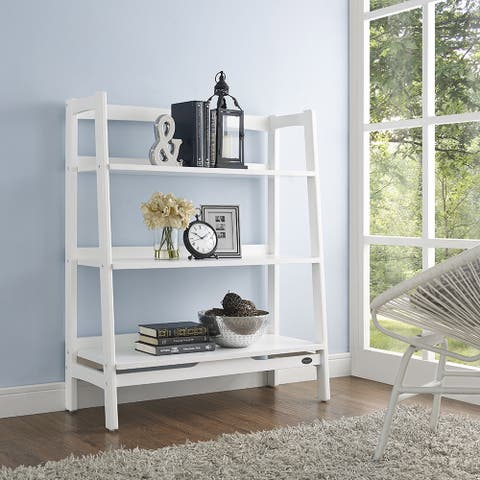 Landon White Wood Bookcase
