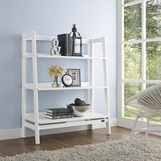 """Landon White Wood Bookcase - 36.13 """"W x 15 """"D x 43.5 """"H"""