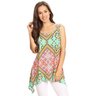 Women's Multicolored Abstract Pattern Tank Top