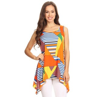 Women's Multicolored Geometric Tank Top