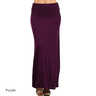 Women's Solid Color Flared Maxi Skirt