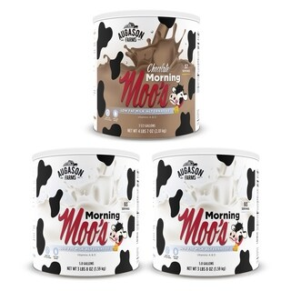 Augason Farms Morning Moo's Milk Alternative Variety Kit No. 10 3-Pack