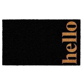 Black/Natural 24 x 36-inch Vertical Hello Doormat