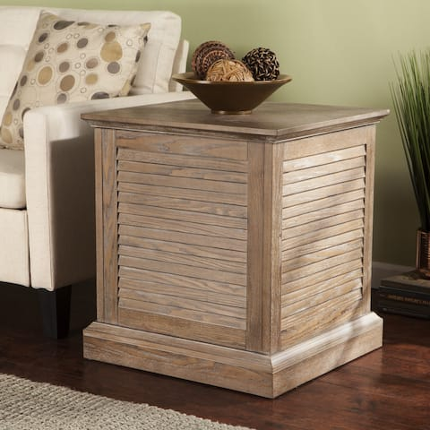 Harper Blvd Allete Louvered Trunk End Table - Burnt Oak