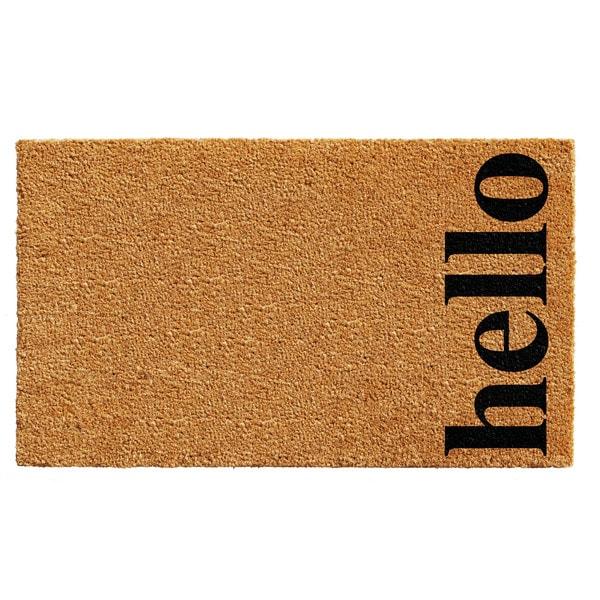 Natural/Black 24 x 36-inch Vertical Hello Doormat