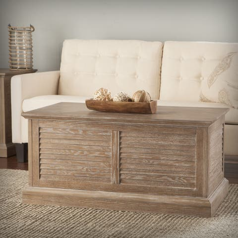 Harper Blvd Allete Louvered Trunk Cocktail Table - Burnt Oak