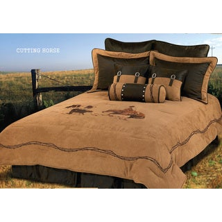 HiEnd Accents Cutter Twin Size Comforter Set