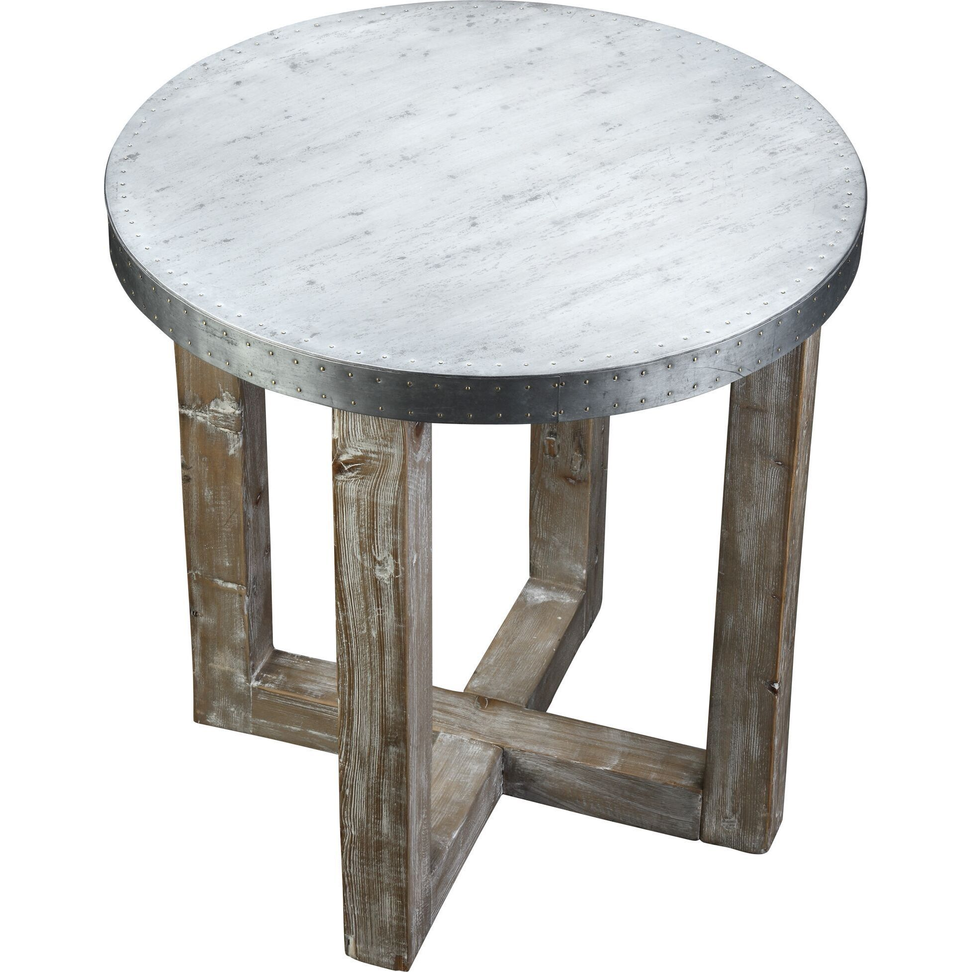 Burnham Home Designs Murray Collection Side Table (Grey/S...