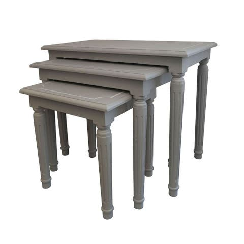 Burnham Home Designs Macbeth Square Nesting Tables (Set of 3)
