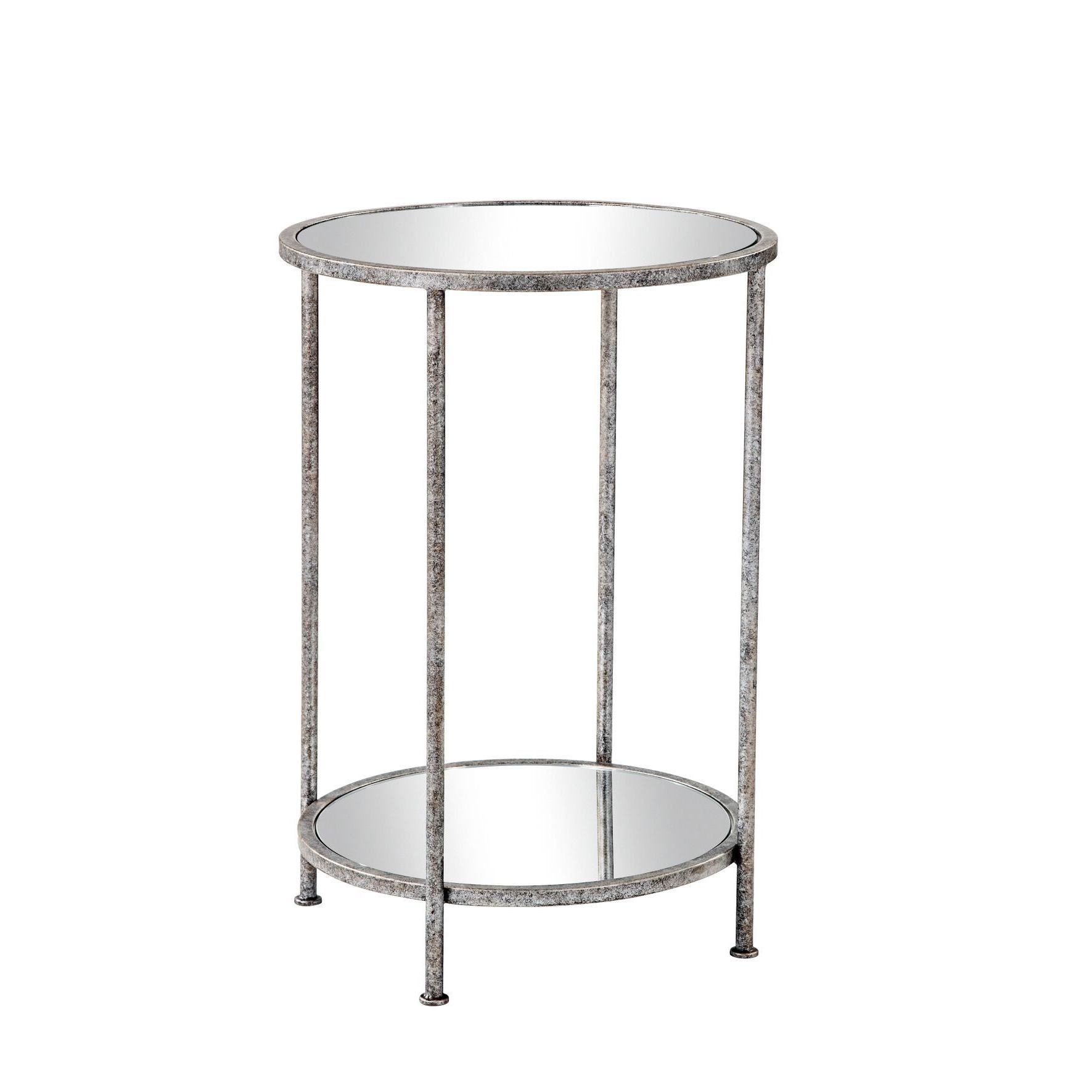 Pleasant Burnham Home Designs Wyatt Collection Silvertone Iron And Clear Glass Side Table Creativecarmelina Interior Chair Design Creativecarmelinacom