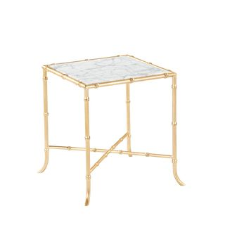 Tristan Side Table (Golf Leaf & Marble)