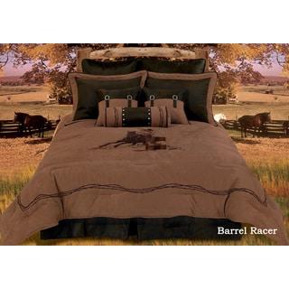 HiEnd Accents Barrel Racer King Size Comforter Set