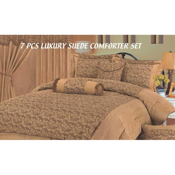 HiEnd Accents Tan Small Paisley Twin-size Comforter Set