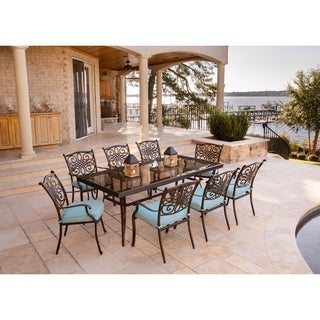 Hanover Traditions Blue Aluminum 9-piece Outdoor Dining Set