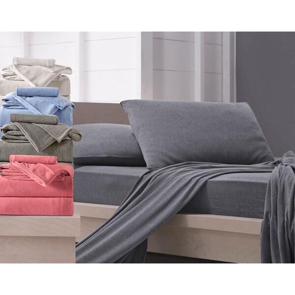 Somette Melange Jersey Knit Sheet Set