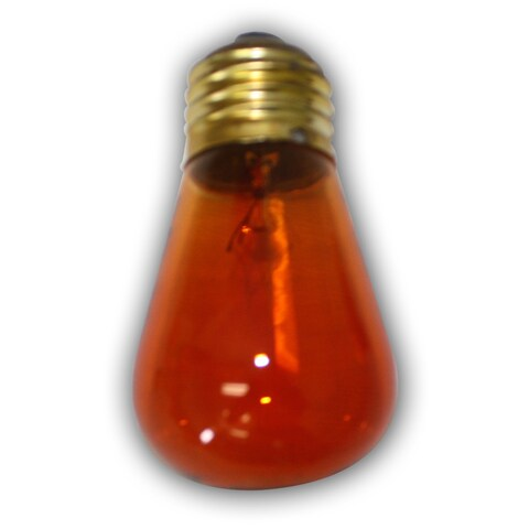 Amber Bulbs - S-14 11W- medium size base bulb. 11 Wattage - E26