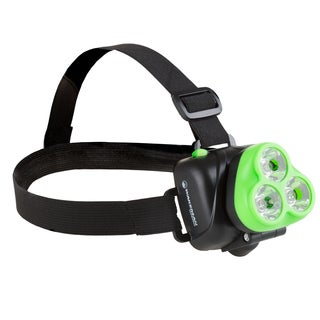 LED Headlamp, Adjustable Head Lamp Handsfree Flashlight with 120 Lumen and 3 LED By Wakeman Outdoors (Green)