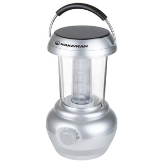 LED Lantern, Camping Lantern Flashlight With Adjustable Brightness And Dimmer Switch for Camping By Wakeman Outdoors (Silver)