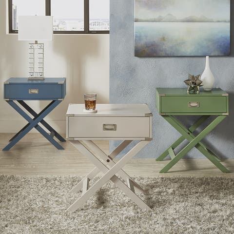 Kenton II X Base Wood Accent Campaign Table iNSPIRE Q Modern