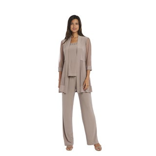 R&M Richards Taupe Pant Set
