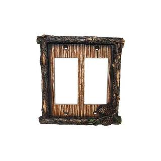 HiEnd Accents Pine Cone Wall Plate