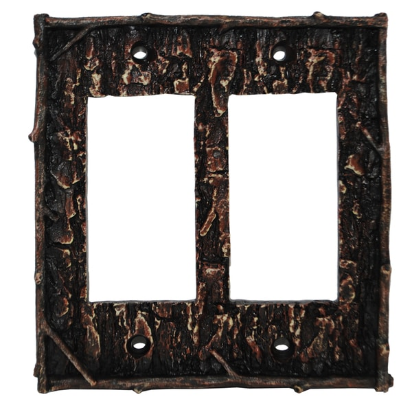 HiEnd Accents Pine Bark Wall Plate