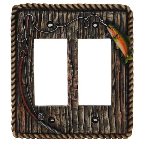 HiEnd Accents Rainbow Trout Wall Plate