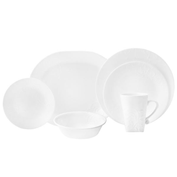 shop corelle boutique cherish round 42 pc dinnerware set on sale free shipping today. Black Bedroom Furniture Sets. Home Design Ideas