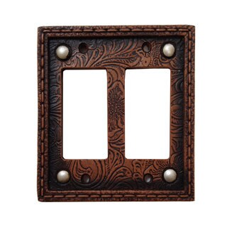 HiEnd Accents Tooled Resin Switchplate W/Stud