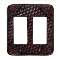HiEnd Accents Tooled Resin Weaver Switchplate (Ea)