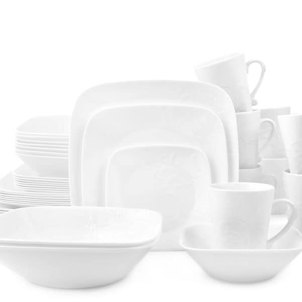 Corelle Boutique Cherish Square 42-pc Dinnerware Set  sc 1 st  Overstock & Shop Corelle Boutique Cherish Square 42-pc Dinnerware Set - On Sale ...