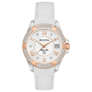 Bulova Ladies' Marine Star Diamond Strap Watch 98R233