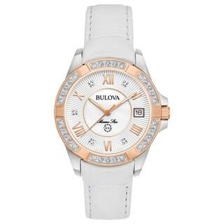 Bulova Ladies' Marine Star Diamond Strap Watch 98R233
