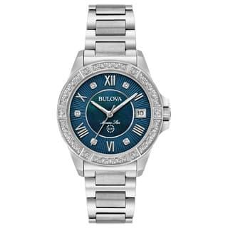 Bulova Ladies' Marine Star Diamond Watch 96R215|https://ak1.ostkcdn.com/images/products/15951797/P22350936.jpg?impolicy=medium