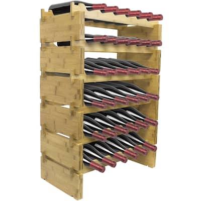 6-Tier Stackable Bamboo Wine Rack