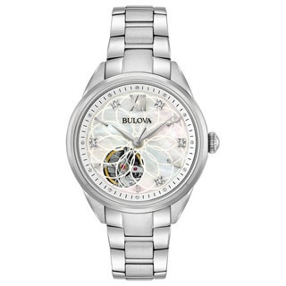 Bulova Ladies' Automatic Diamond Watch 96P181