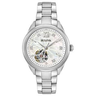 Bulova Ladies' Automatic Diamond Watch 96P181|https://ak1.ostkcdn.com/images/products/15951814/P22351084.jpg?impolicy=medium