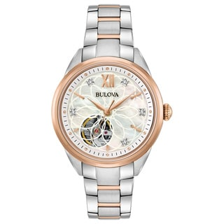Bulova Ladies' Automatic Diamond Watch 98P170