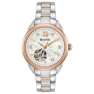 Bulova Ladies' Automatic Diamond Watch 98P170|https://ak1.ostkcdn.com/images/products/15951818/P22351085.jpg?impolicy=medium