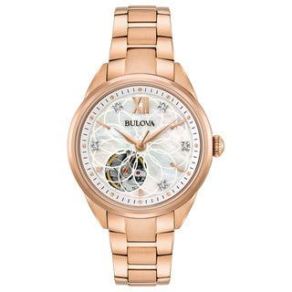 Bulova Ladies' Automatic Diamond Watch 97P121